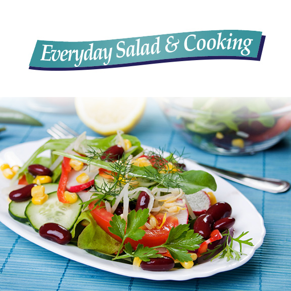 everyday salad and cooking vegetable oil