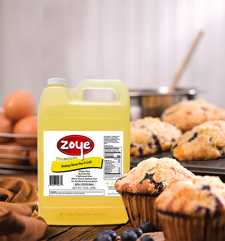 Zoye Buttery Flavor Pan & Grill blueberry muffins