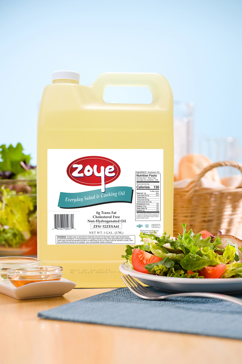 Zoye Everyday Salad & Cooking Oil with salads